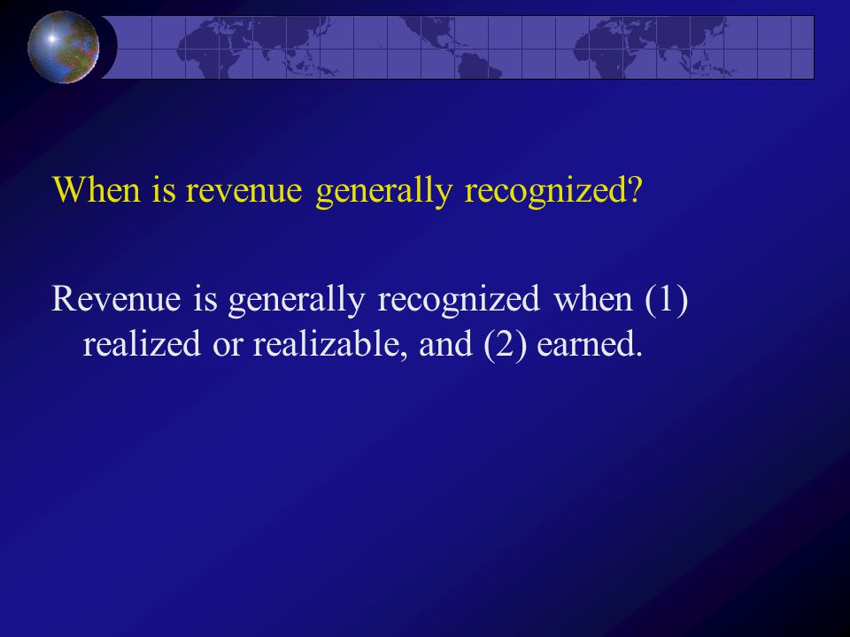 When is revenue generally recognized