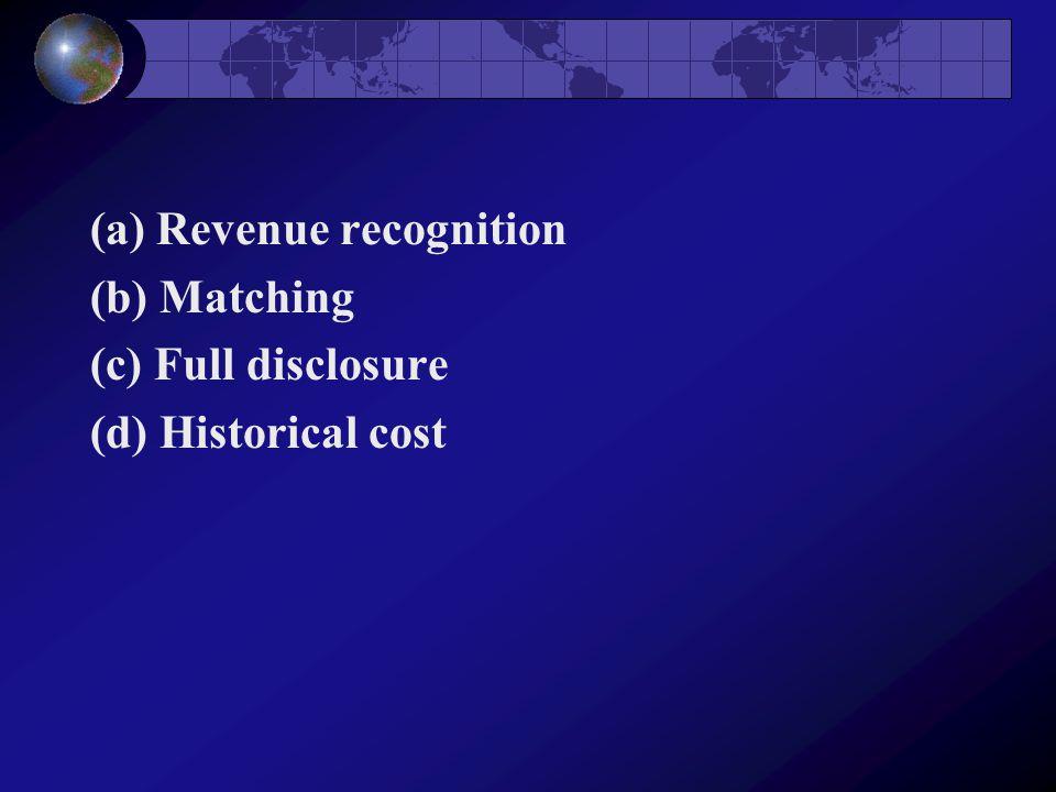 (a) Revenue recognition