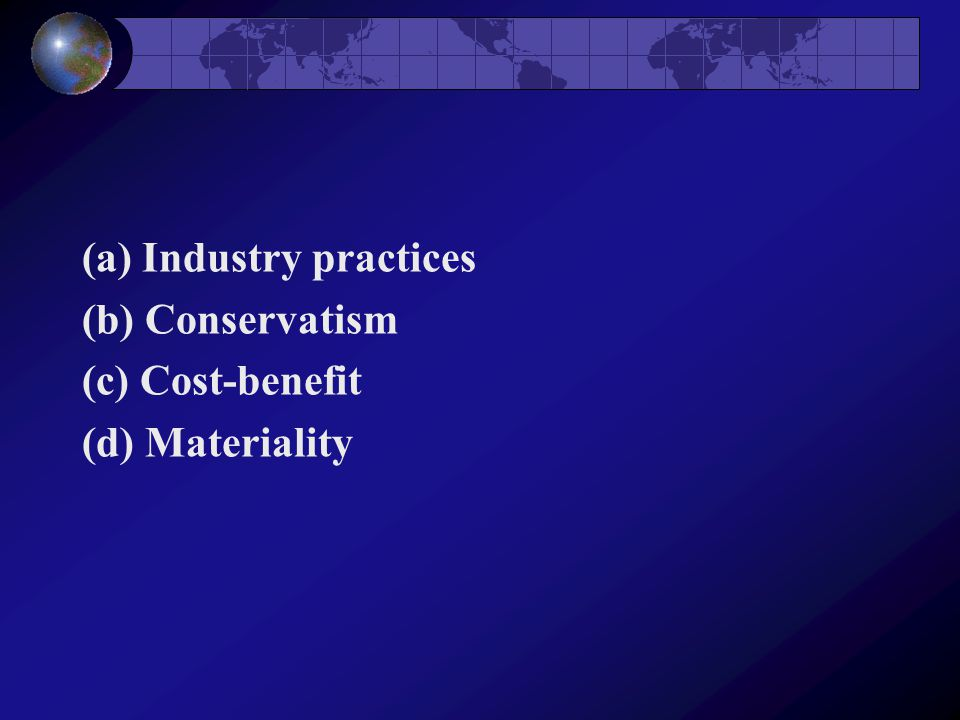 (a) Industry practices