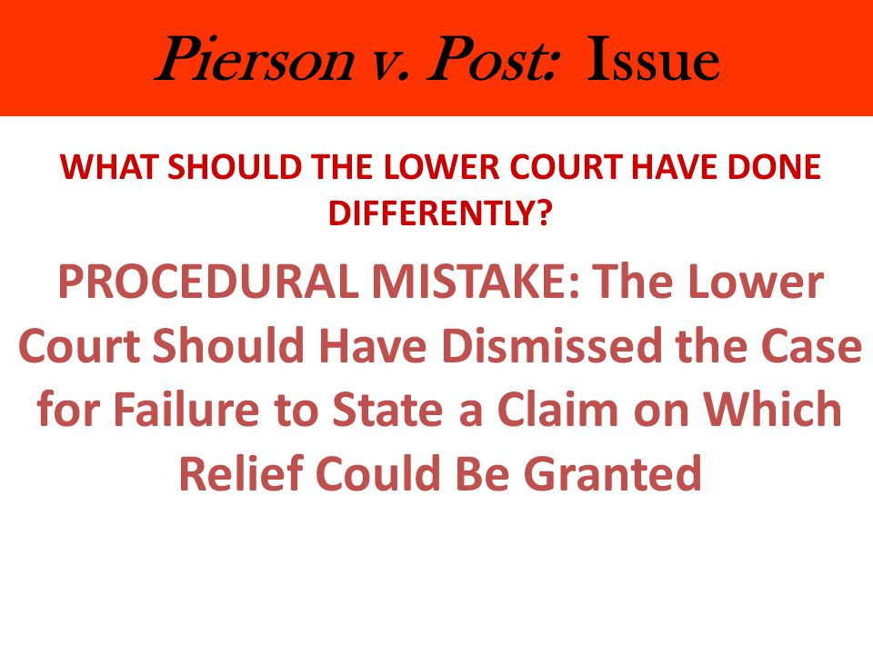 WHAT SHOULD THE LOWER COURT HAVE DONE DIFFERENTLY