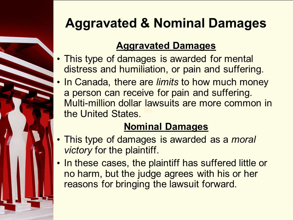Aggravated & Nominal Damages