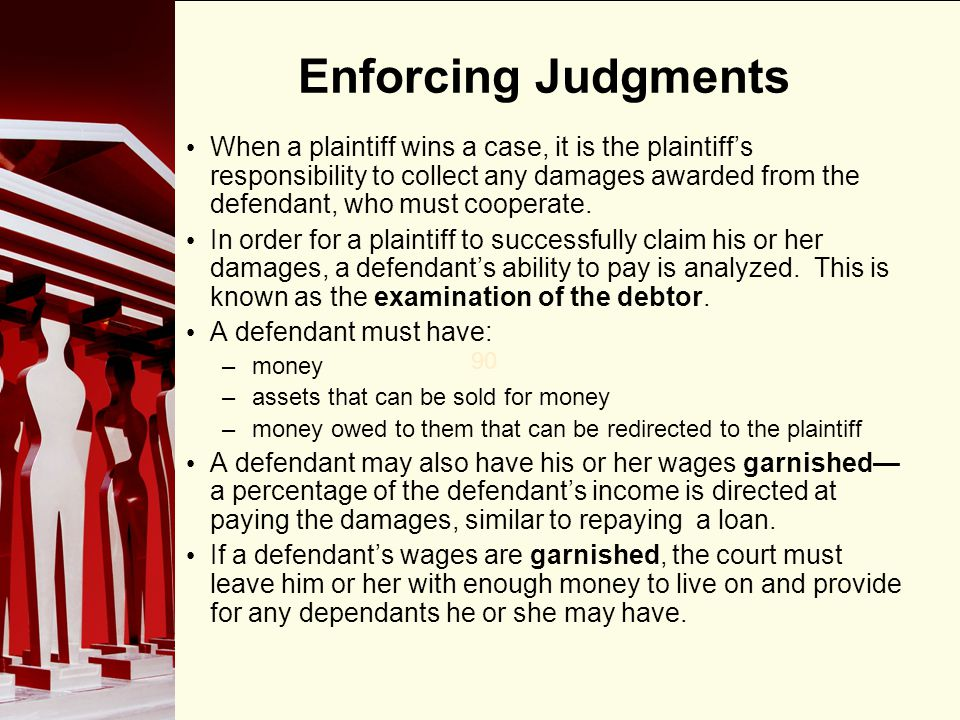 Enforcing Judgments