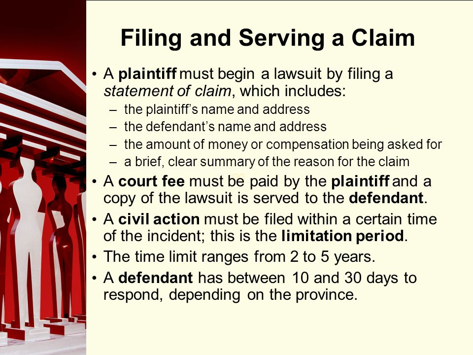 Filing and Serving a Claim