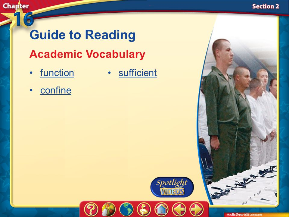 Guide to Reading Academic Vocabulary function confine sufficient