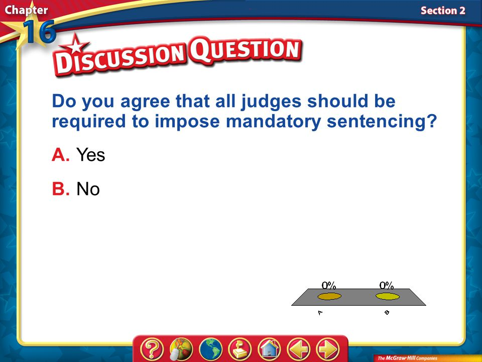 Do you agree that all judges should be required to impose mandatory sentencing