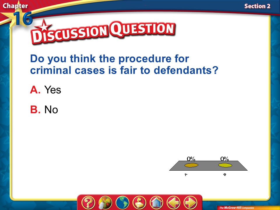 Do you think the procedure for criminal cases is fair to defendants
