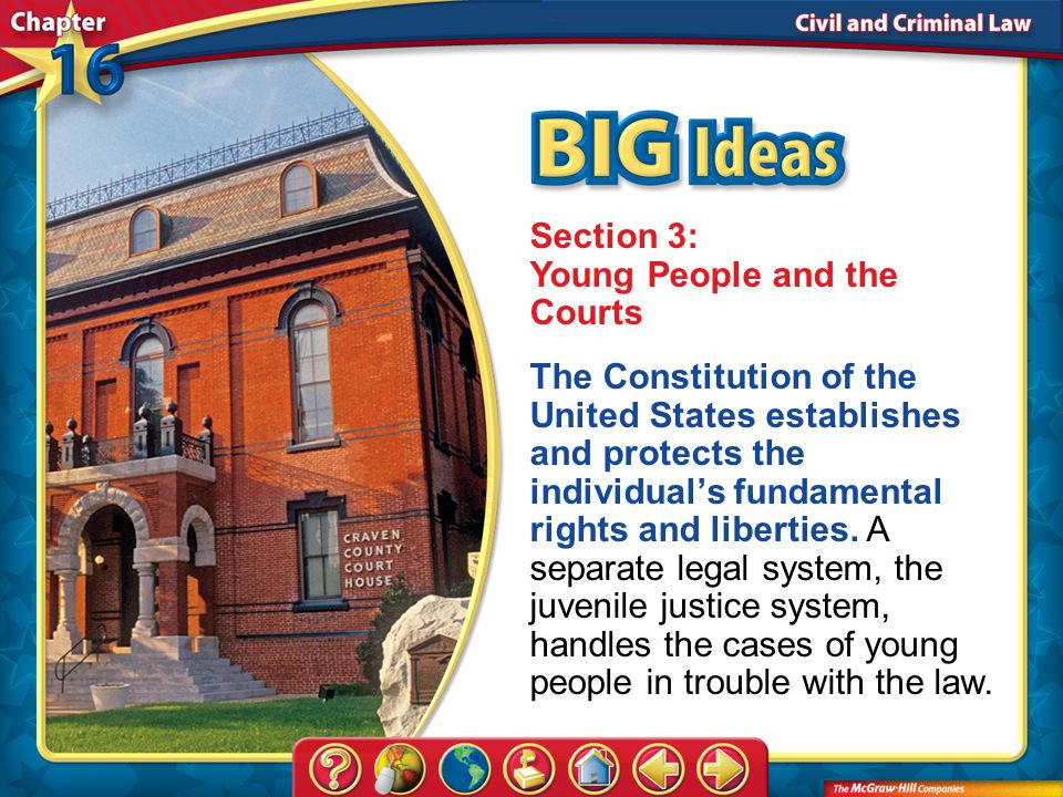Section 3: Young People and the Courts
