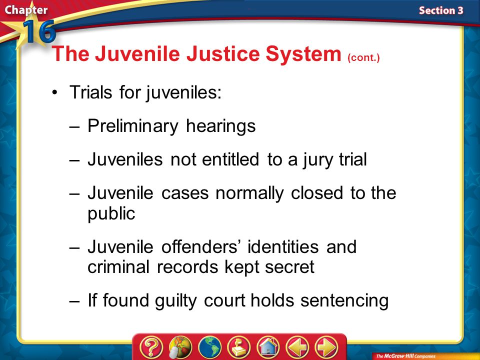 The Juvenile Justice System (cont.)