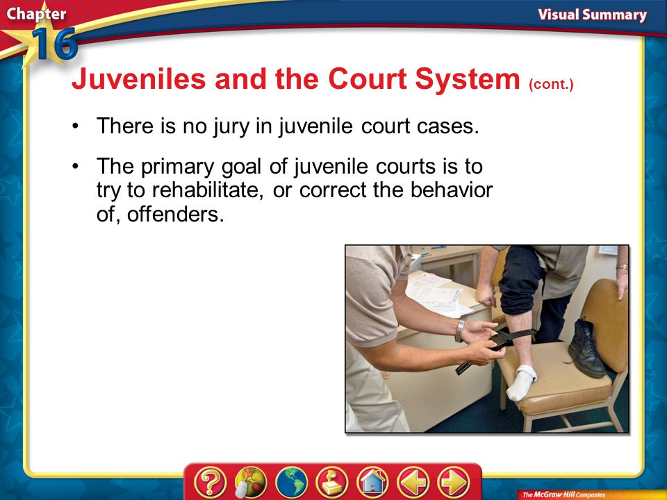 Juveniles and the Court System (cont.)