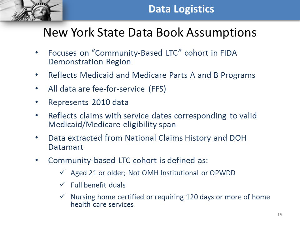 New York State Data Book Assumptions