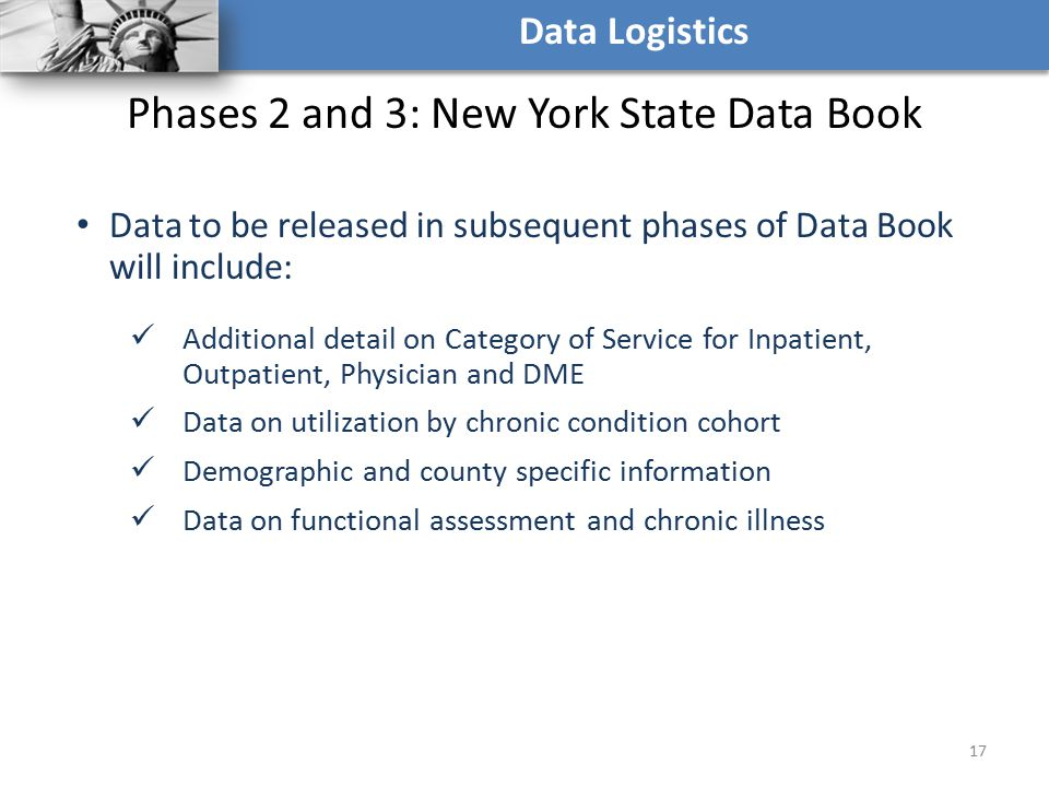 Phases 2 and 3: New York State Data Book