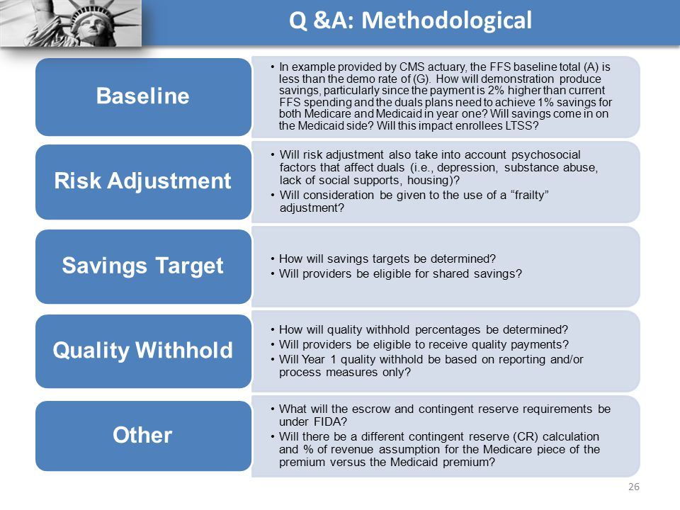 Q &A: Methodological Baseline Risk Adjustment Savings Target