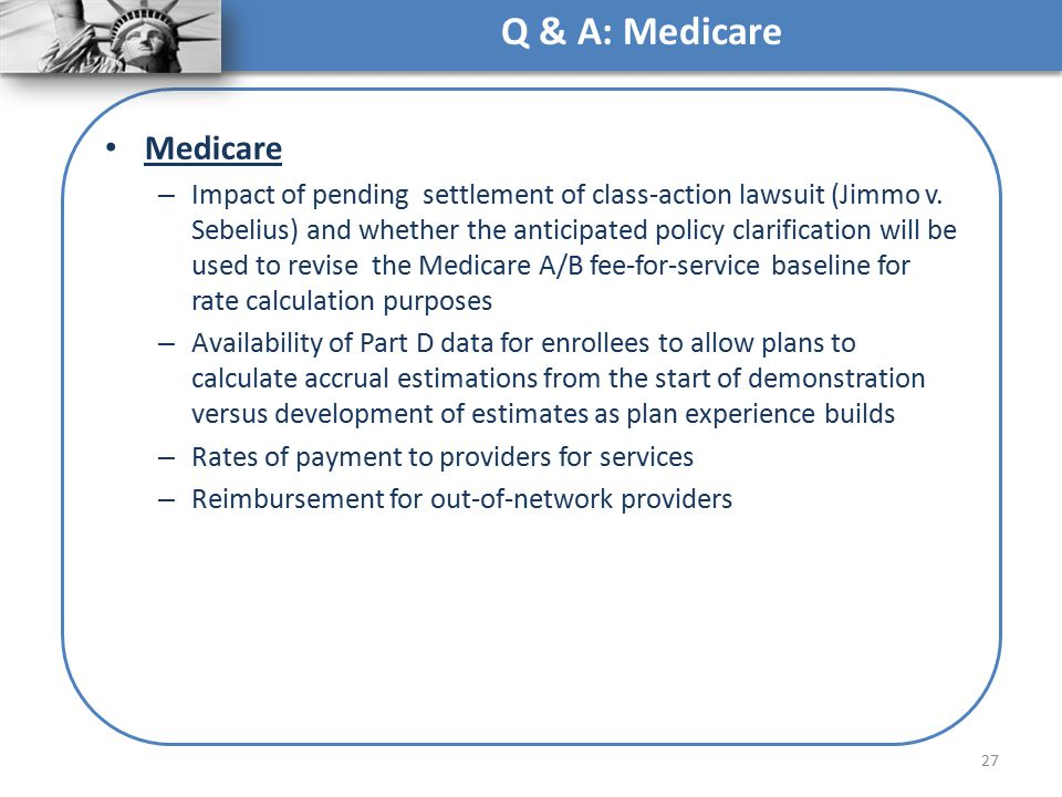 Q & A: Medicare Medicare