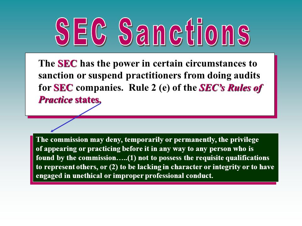 The SEC has the power in certain circumstances to