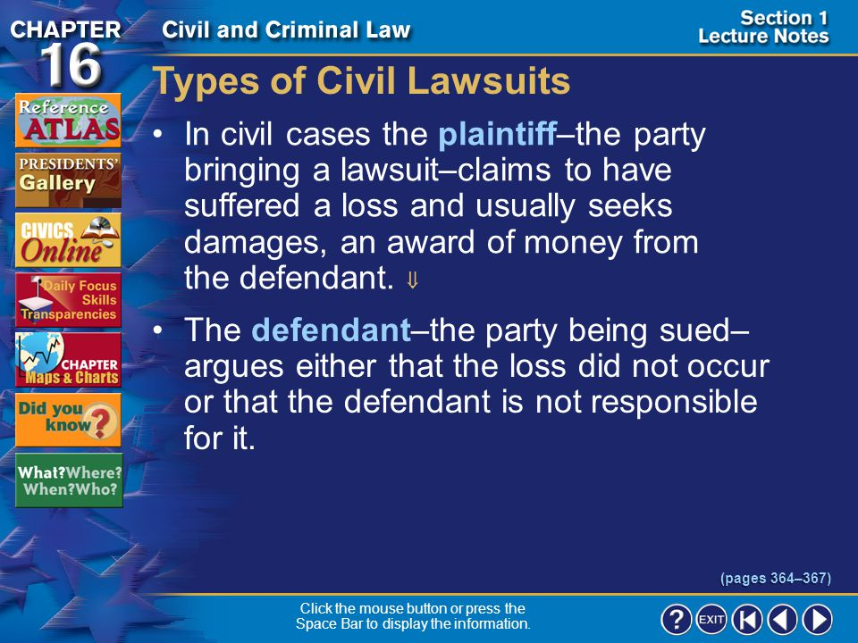 Types of Civil Lawsuits