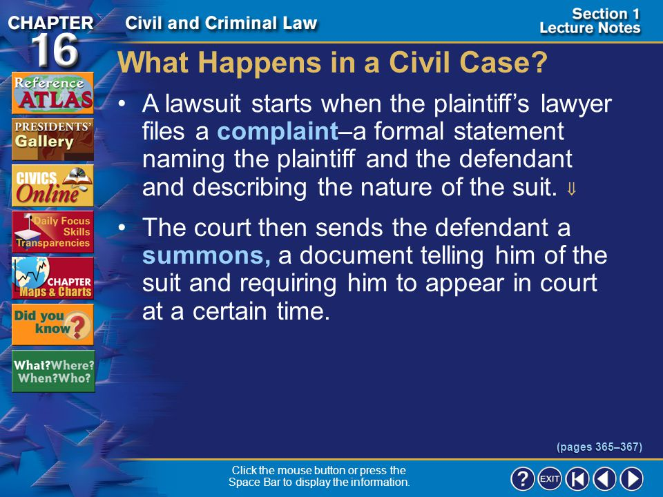 What Happens in a Civil Case