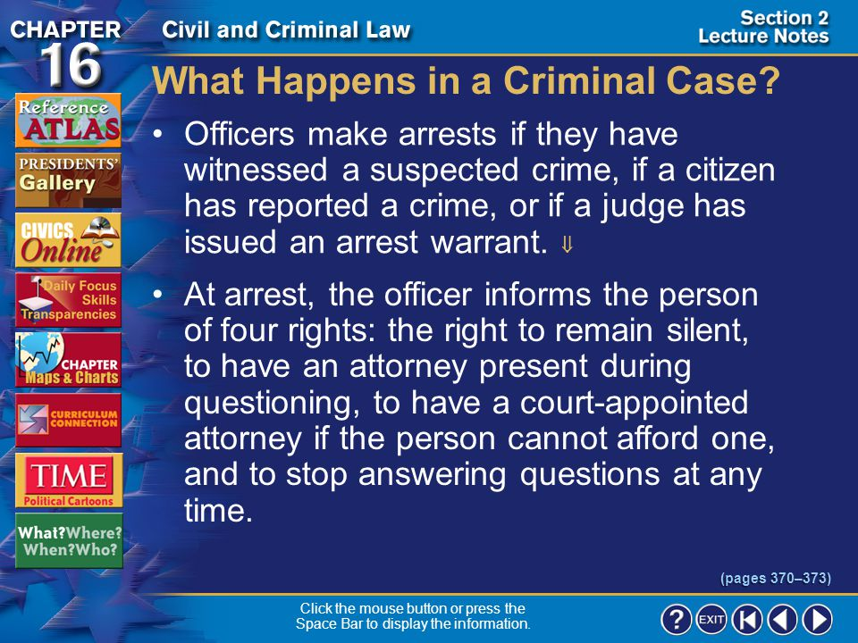 What Happens in a Criminal Case