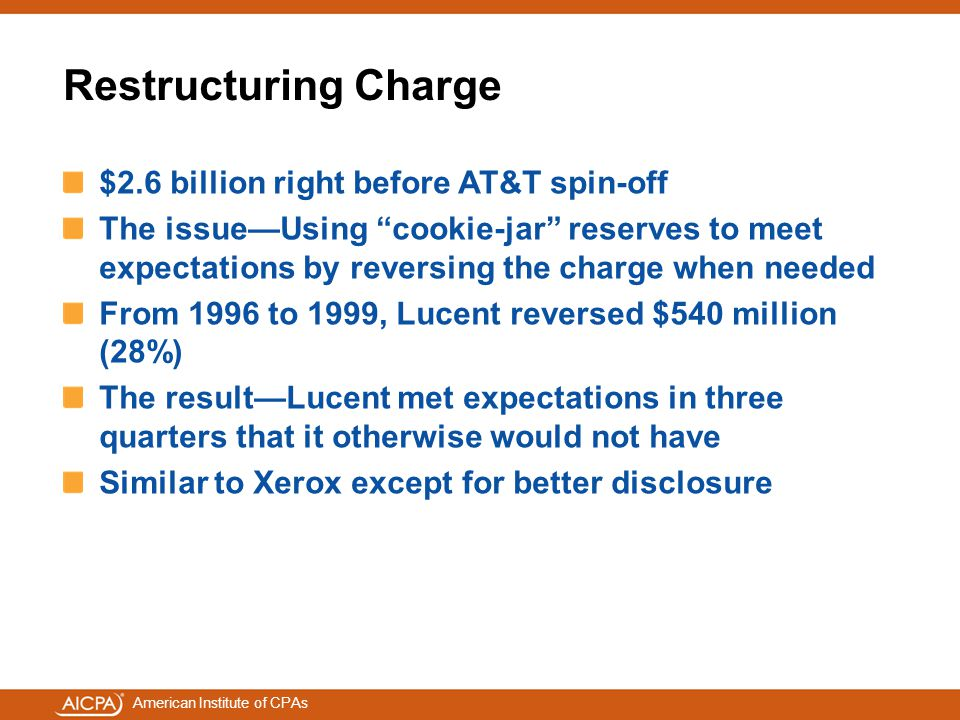 Restructuring Charge $2.6 billion right before AT&T spin-off