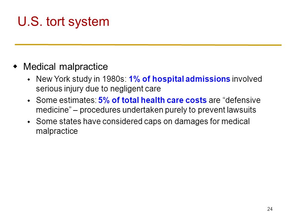 U.S. tort system Product liability