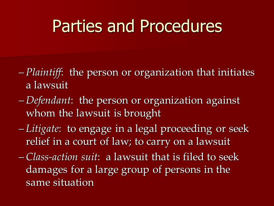 Parties and Procedures