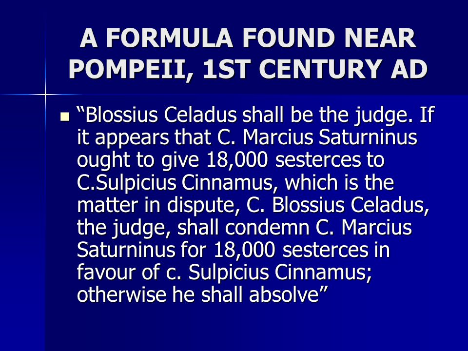 A FORMULA FOUND NEAR POMPEII, 1ST CENTURY AD
