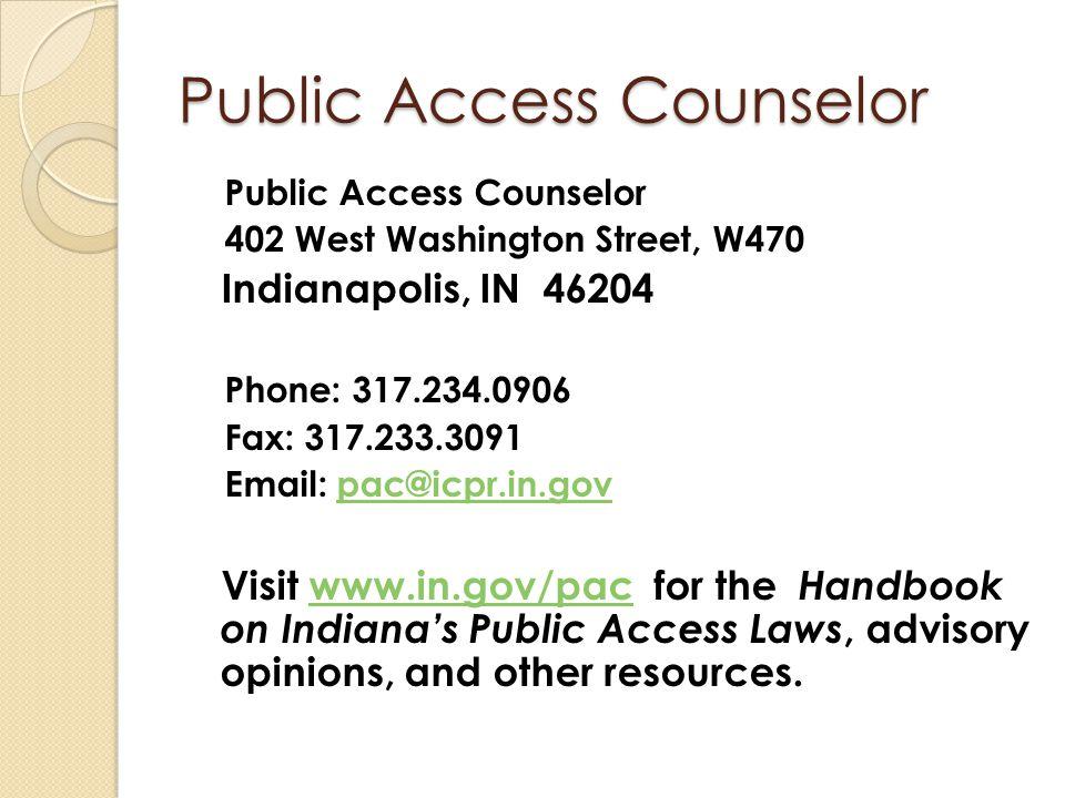 Public Access Counselor