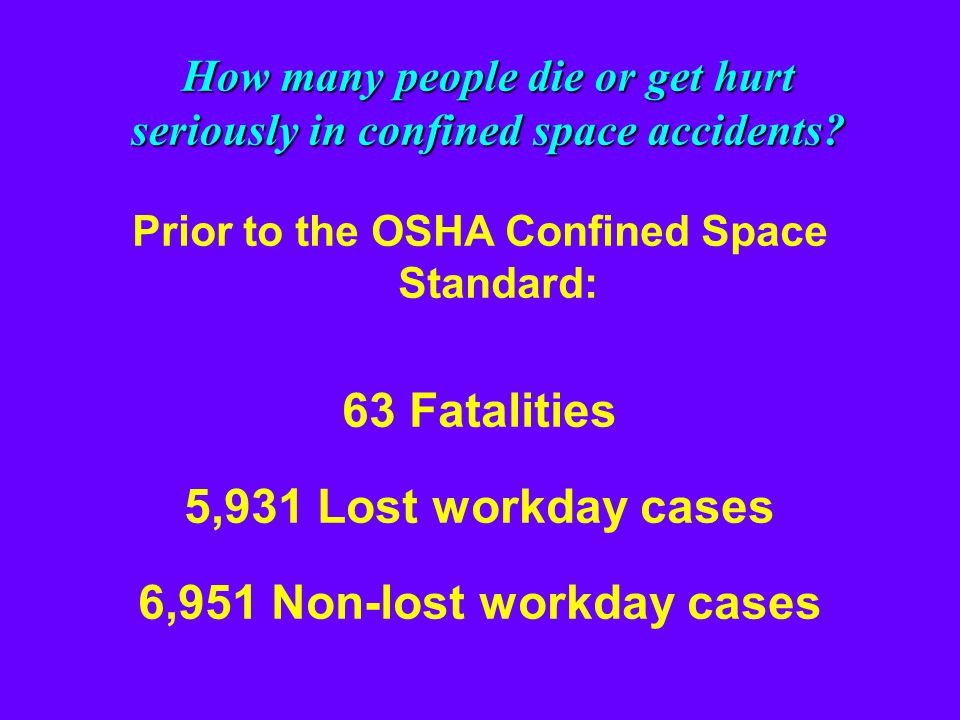 63 Fatalities 5,931 Lost workday cases 6,951 Non-lost workday cases