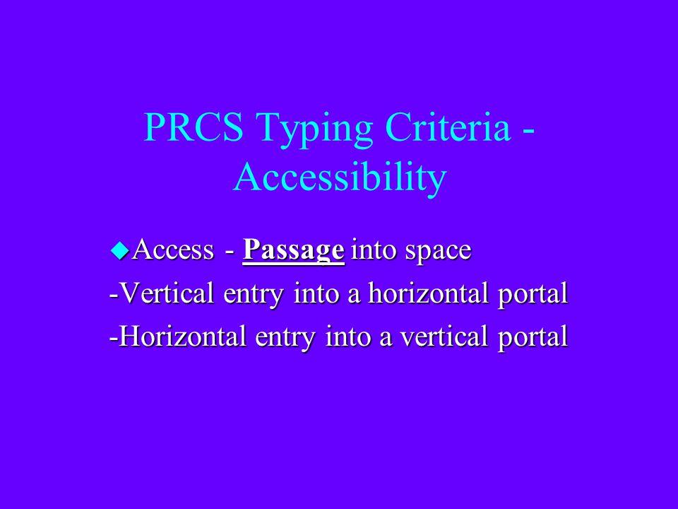 PRCS Typing Criteria - Accessibility