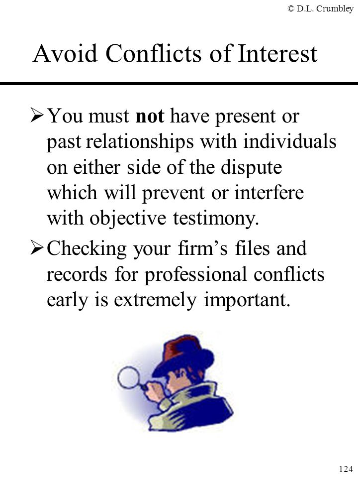 Avoid Conflicts of Interest