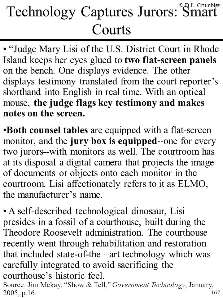 Technology Captures Jurors: Smart Courts