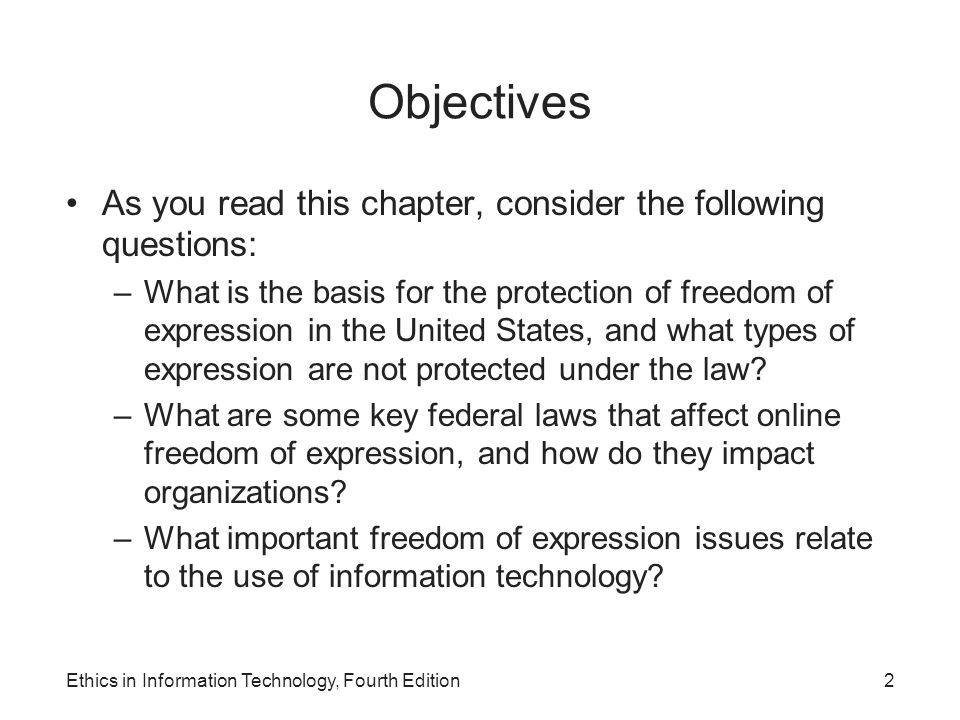 Objectives As you read this chapter, consider the following questions: