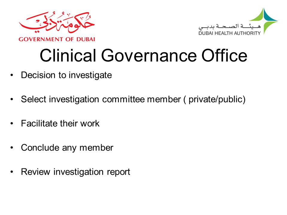 Clinical Governance Office
