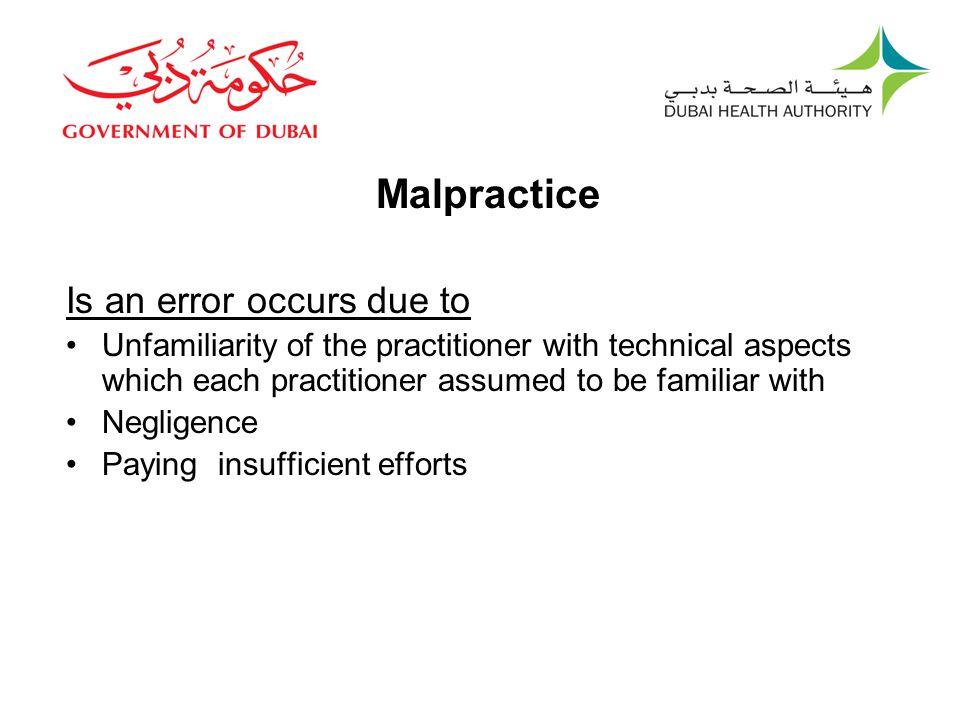 New Definition Malpractice