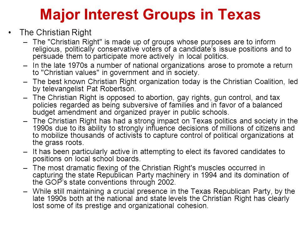 Major Interest Groups in Texas