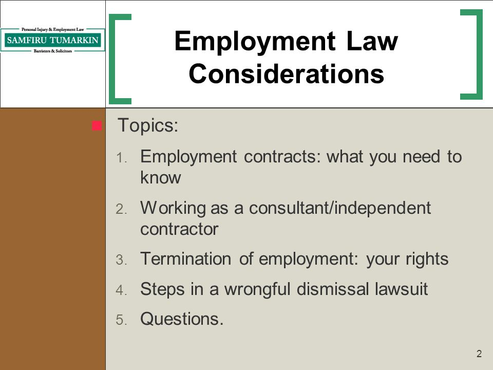 Employment Law Issues During The Job Search Process  Ppt Video