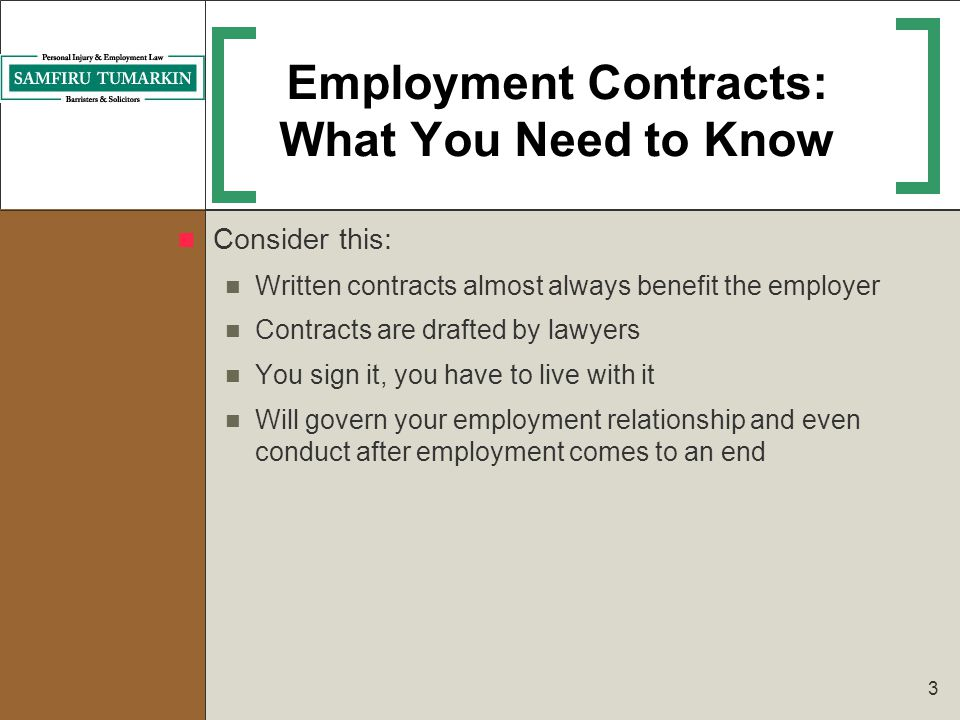 Employment Contracts: What You Need to Know