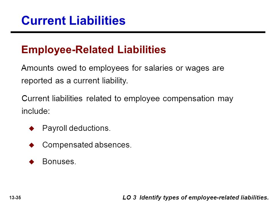 Current Liabilities Employee-Related Liabilities