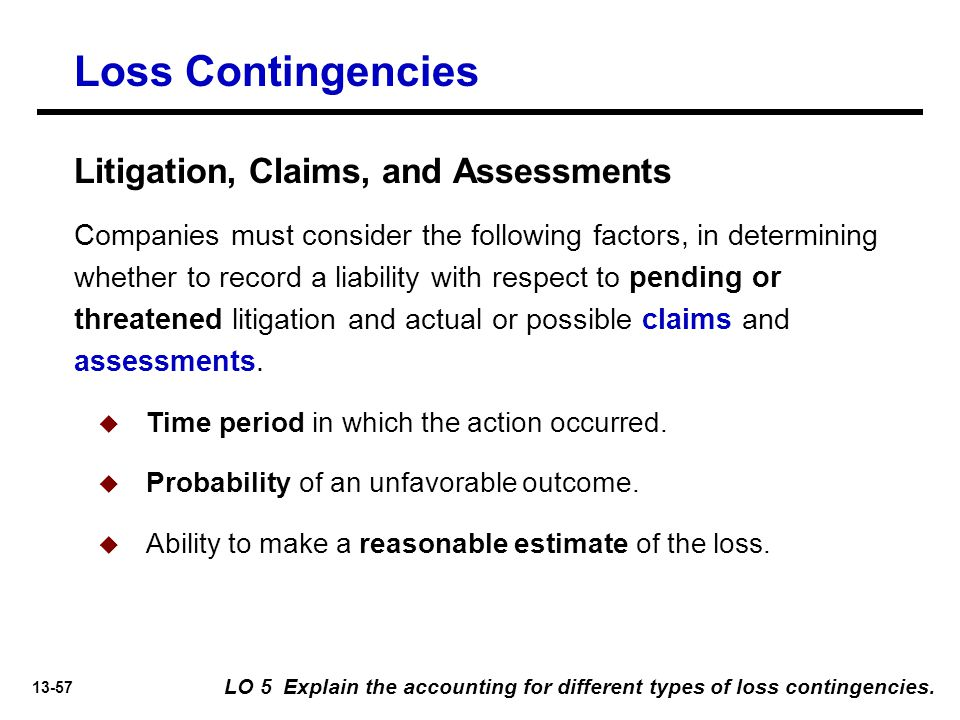 Loss Contingencies Litigation, Claims, and Assessments