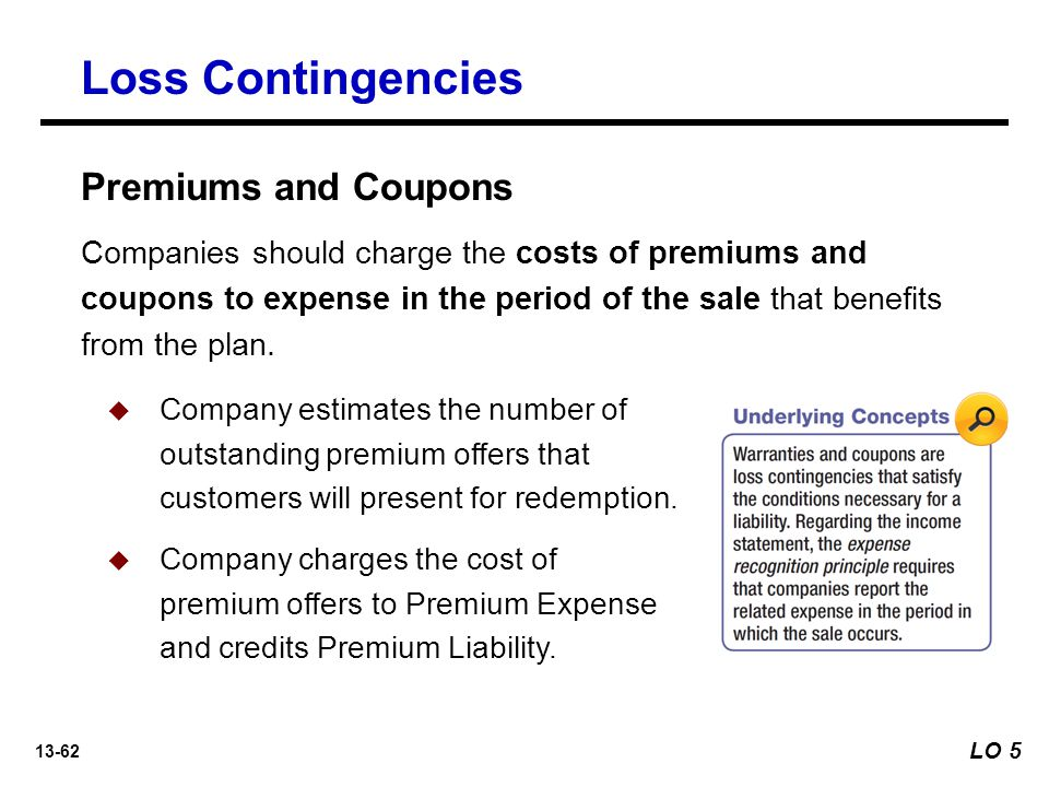 Loss Contingencies Premiums and Coupons