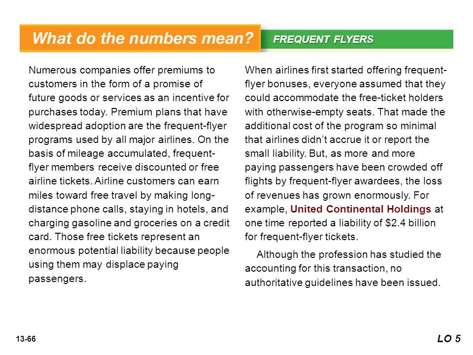 WHAT'S YOUR PRINCIPLE FREQUENT FLYERS