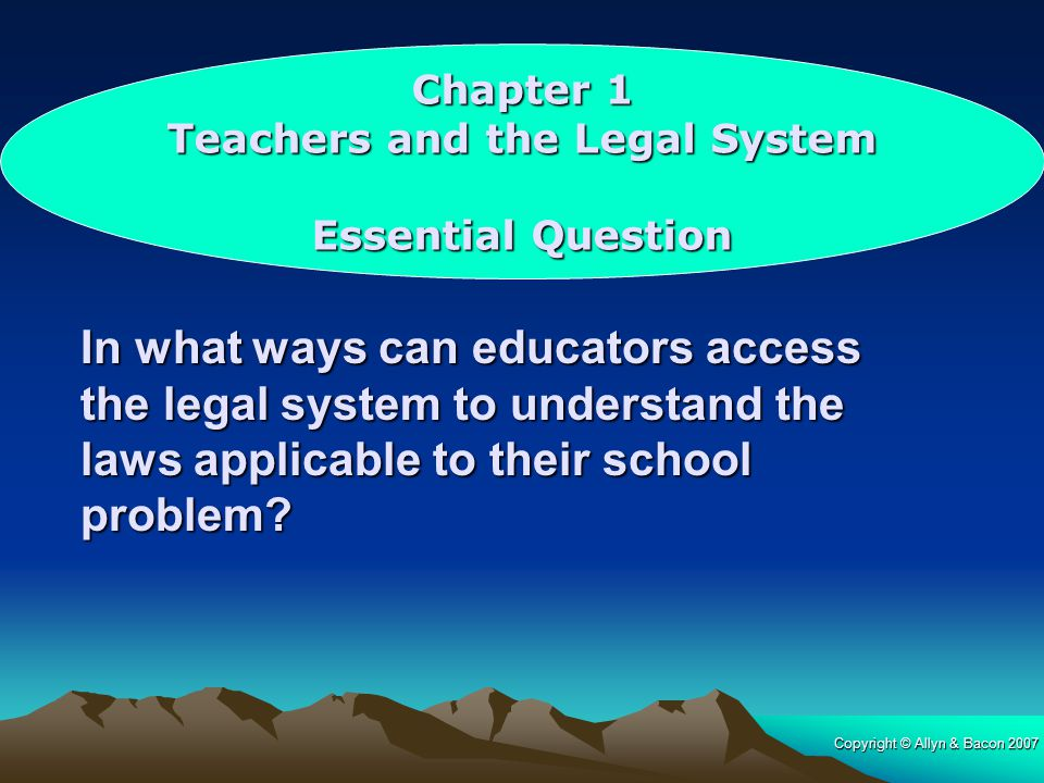 Teachers and the Legal System