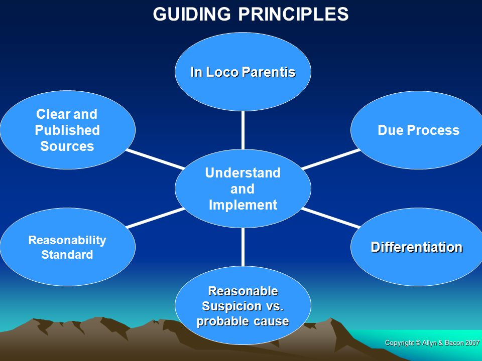 GUIDING PRINCIPLES Copyright © Allyn & Bacon 2007