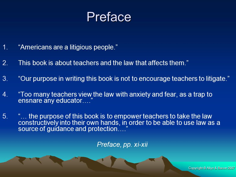 Preface Americans are a litigious people.