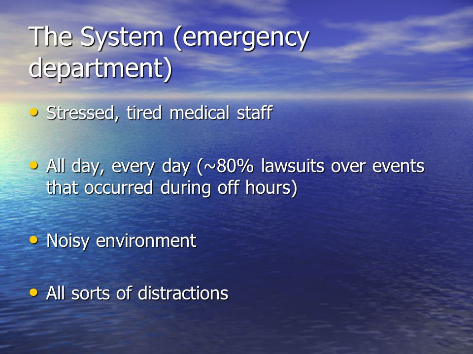 The System (emergency department)