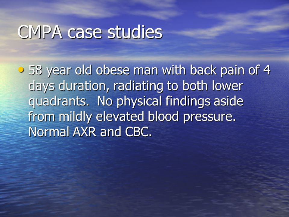 CMPA case studies