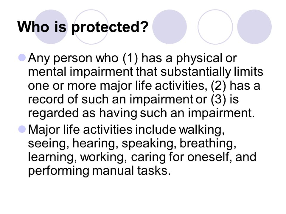 Who is protected