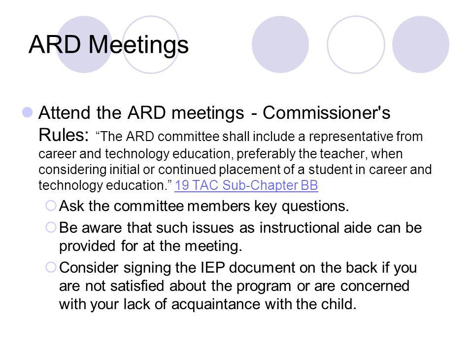 ARD Meetings