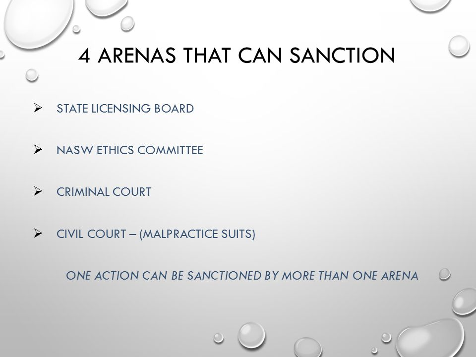 4 Arenas That Can Sanction