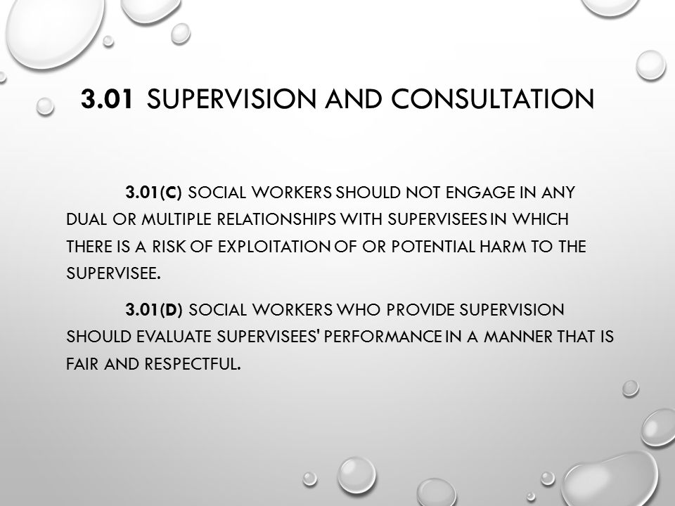 3.01 Supervision and Consultation