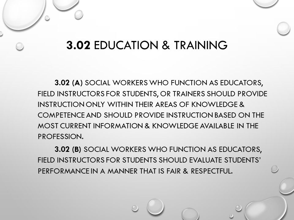 3.02 Education & Training